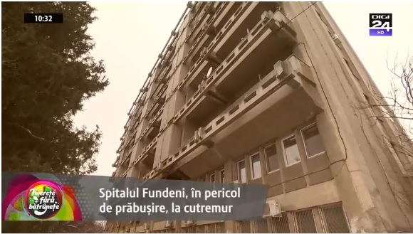 Spitalul Fundeni, în pericol de prăbuşire în caz de cutremur