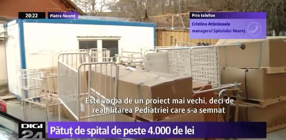 Pătuţuri de bebeluşi pentru Secţia de Pediatrie, la preţul unor paturi matrimoniale de lux