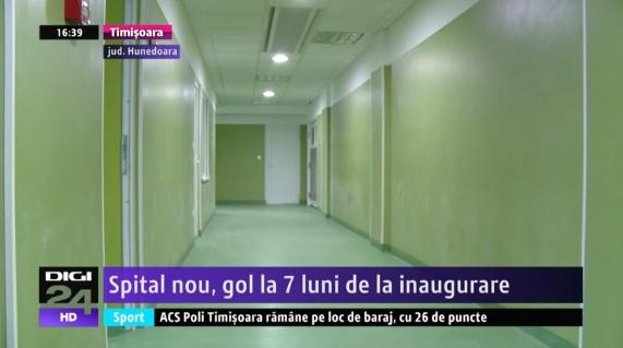 Spital nou, gol la 7 luni de la inaugurare