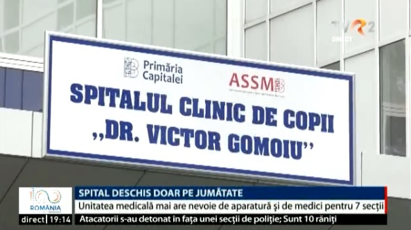 A fost inaugurată noua clădire a Spitalului de Copii Victor Gomoiu din București