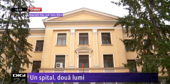Un spital, două lumi | Spitalul din Negreşti-Oaş: o clădire renovată cu 9 milioane de lei, alta nerefăcută total din anii '50